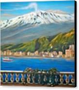 Etna Sicily Canvas Print by Italian Art
