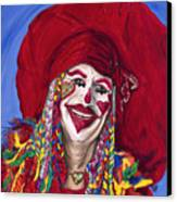 Eureka Springs Clown Canvas Print by Patty Vicknair