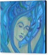 Even Mermaids Get The Blues Canvas Print