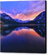 Evening At Fallen Leaf Lake Canvas Print by Jacek Joniec
