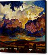 Evening Clouds Over The Valley Canvas Print