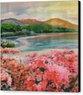 Evening Flowers Canvas Print