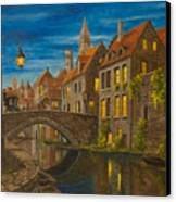 Evening In Brugge Canvas Print