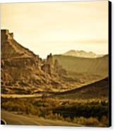 Evening In The Canyon Canvas Print