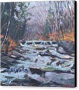 Evening Spillway Canvas Print