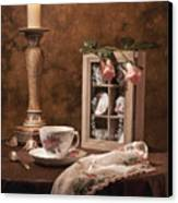 Evening Tea Still Life Canvas Print
