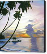 Eventide Tobago Canvas Print by Karin  Dawn Kelshall- Best