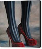 Evil Shoes Canvas Print by Jindra Noewi