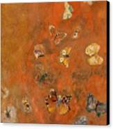 Evocation Of Butterflies Canvas Print by Odilon Redon