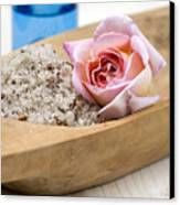 Exfoliating Body Scrub From Sea Salt And Rose Petals Canvas Print by Frank Tschakert