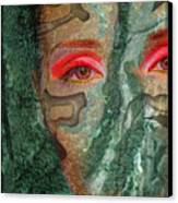 Eyes Of Emerald Canvas Print