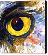 Eyes Of Owl's No.6 Canvas Print
