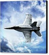F18 Fighter Jet Canvas Print by Aaron Berg
