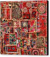 Fabric Art - Patch Work Canvas Print by Milind Torney