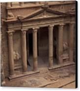 Facade Of The Treasury In Petra, Jordan Canvas Print