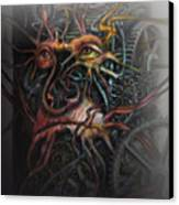 Face Machine Canvas Print by Frank Robert Dixon