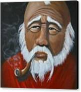 Face Of Asia Canvas Print