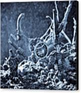 Facing The Enemy II Canvas Print by Marc Garrido