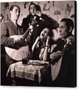 Fado Singer In Portuguese Night Club Canvas Print