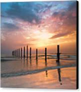 Fahaheel Sunrise Kuwait Canvas Print by Shahbaz Hussain's Photos