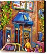 Fairmount Bagel Fairmount Street Montreal Canvas Print