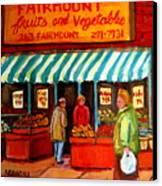 Fairmount Fruit And Vegetables Canvas Print