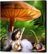 Fairy Woodland Canvas Print by Julie L Hoddinott