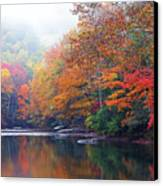 Fall Color Williams River Mirror Image Canvas Print by Thomas R Fletcher