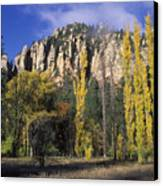 Fall Colors And Red Rocks Near Cave Canvas Print