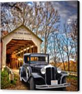 Fall Country Drive Canvas Print by Bill Dutting