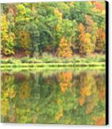 Fall Forest Reflection Canvas Print by Joshua Bales