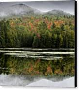 Fall Reflections In The Adirondack Mountains Canvas Print by Brendan Reals
