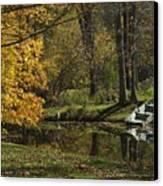 Fall Rowboat Canvas Print