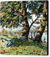 Fall Shapes Roky Point Park Canvas Print