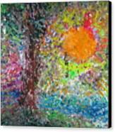 Fall Sun Canvas Print by Jacqueline Athmann