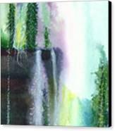 Falling Waters 1 Canvas Print by Anil Nene