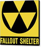 Fallout Shelter Sign Canvas Print by War Is Hell Store
