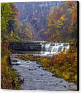Falls Fishing Canvas Print by Mark Papke