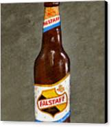 Falstaff Beer Bottle Canvas Print by Elaine Hodges