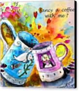 Fancy A Coffee Canvas Print