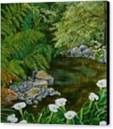 Fantastic Canna Lillies Canvas Print by Val Stokes