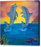 Fantasy Dolphins Canvas Print