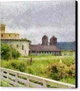 Farm - Barn - Farming Is Hard Work Canvas Print by Mike Savad