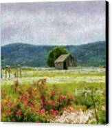 Farm - Barn - Out In The Country  Canvas Print