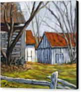 Farm In Berthierville Canvas Print
