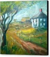 Farm In Gorham Canvas Print