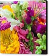 Farm Market Flowers Canvas Print