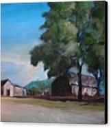Farm Shadows Canvas Print