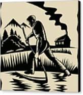 Farmer With Scythe Canvas Print by Aloysius Patrimonio