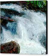 Fast Water Canvas Print by David Kyte